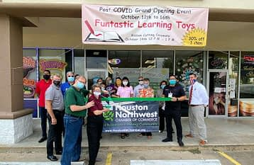 Funtastic Learning Toys Post COVID Ribbon Cutting Ceremony