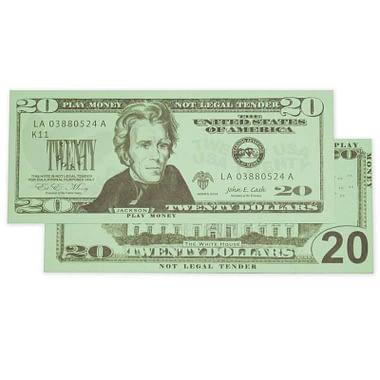 Twenty Dollar United State Currency Bill - Learning Advantage