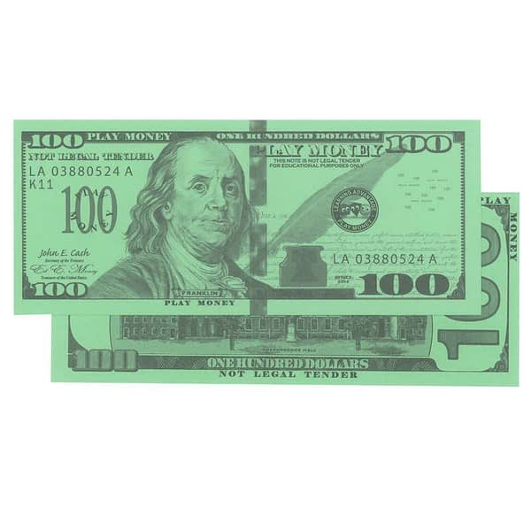 One-Hundred Dollar United State Currency Bill - Learning Advantage