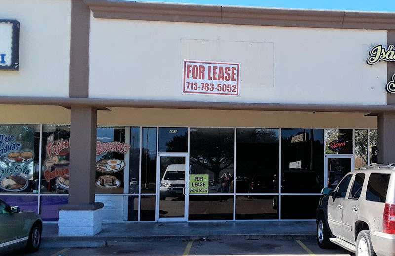 Lease Sign for Funtastic Learning Toys Store.